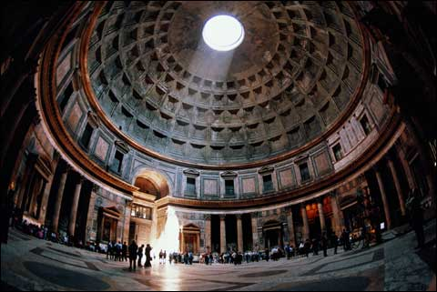 Watching c-beams in the Pantheon